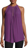 Ramy Brook Piper Sleeveless Keyhole Top, Radiant Orchid
