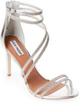 Steve Madden Pewter Fiffi Embellished Strappy Sandals
