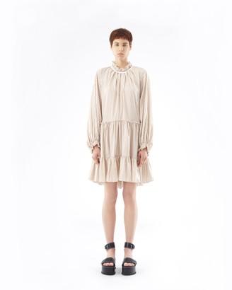 3.1 Phillip Lim Striped A-Line Mini Dress