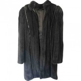 Gianni Versace Grey Mink Coat for Women