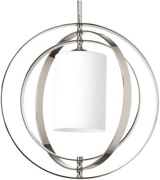 Progress Lighting 1-100W Medium Foyer Lantern, Polished Nickel