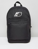 New Balance Classic Logo Backpack In Black