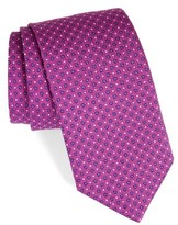 David Donahue Men's Dot Silk Tie