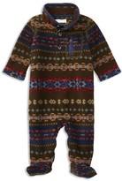 Ralph Lauren Infant Boys' Fair Isle Pattern Polar Fleece Footie - Sizes Newborn-9 Months