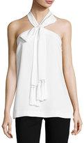 Cinq à Sept Clothing Avita Tassel-Tie Halter Top