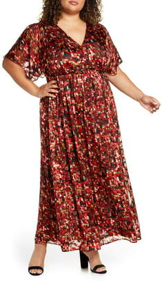 Maree Pour Toi Flutter Sleeve Maxi Dress