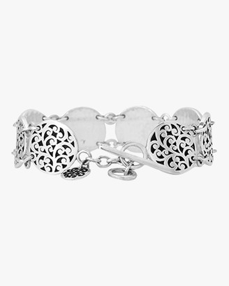 Lois Hill Classic Signature Scroll Disc Station Bracelet