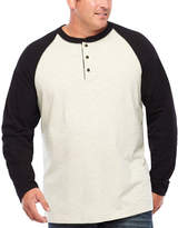 THE FOUNDRY SUPPLY CO. The Foundry Big & Tall Supply Co. Long Sleeve Henley Shirt-Big and Tall
