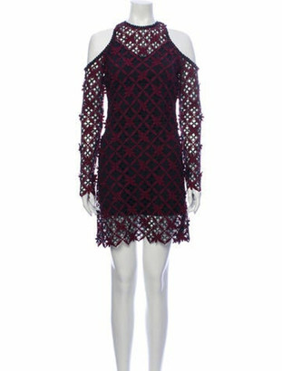Self-Portrait Lace Pattern Mini Dress w/ Tags Purple