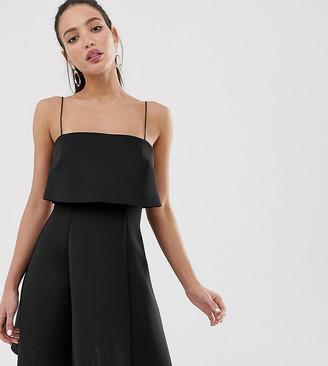 Asos Tall DESIGN Tall crop top skater mini dress