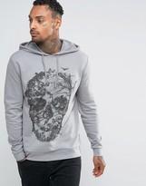 Asos Hoodie With Floral Skull Print
