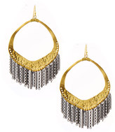 Nakamol Hammered Chain-Fringe Drop Earrings, Gold/Gunmetal