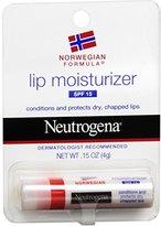 Neutrogena Norwegian Formula Lip Moisturizer, SPF 15, .15 Oz