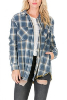 Paper Crane Plaid Shirt Jacket