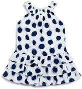 3 Pommes Girls' Dot Print Dress - Baby