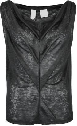 Format TRIA Black Linen Jersey Top - L - Black