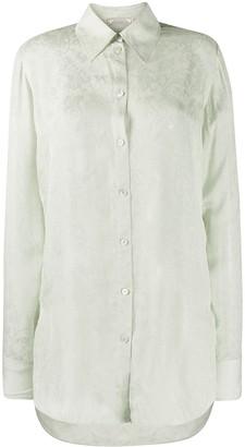 Nina Ricci Longline Floral Jacquard Shirt