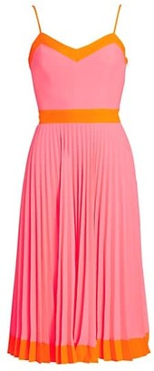 Milly Pleated GG Midi Dress