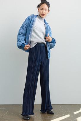 Scotch & Soda Pleated Wide-Leg Pants By in Blue Size S