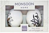 Denby Chrysanthemum Boxed Salt & Pepper Set - Black