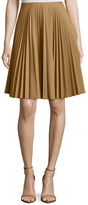 Prada Linea Rossa Cotton Pleated A-Line Skirt