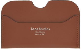 Acne Studios Tan Logo Card Holder