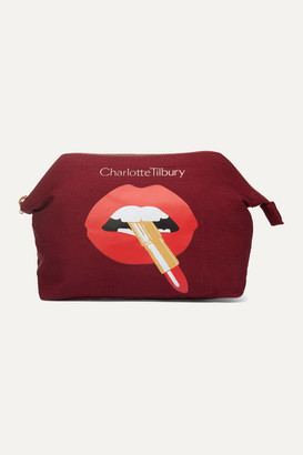 Charlotte Tilbury Hot Lips Printed Cotton-canvas Cosmetics Case - Colorless