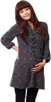 Sweet Mommy Ruffle Front Maternity and Nursing Tunic Tops check