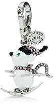 Juicy Couture Limited Edition Ski Mouse Charm, Silvertone