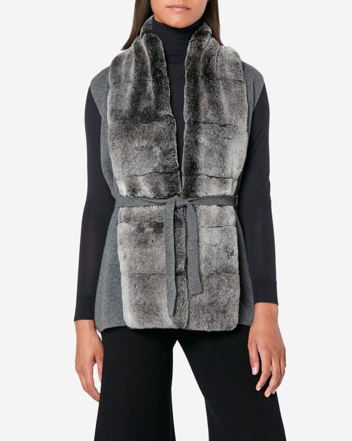 N.Peal Fur Placket Milano Vest