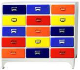 15 Drawer Cabinet Finish: Navy/Yellow/Royal/Red/Orange