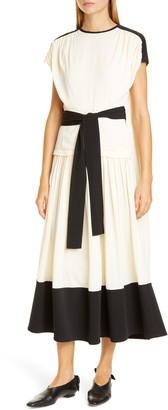 Proenza Schouler Colorblock Drape Dress