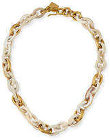 Ashley Pittman Meli Short Collar Necklace in Light Horn