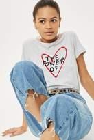 Topshop 'power of love' slogan t-shirt