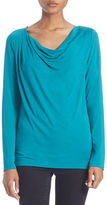 Lord & Taylor Plus Draped Neck Blouse