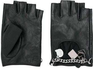 Karl Lagerfeld Paris Charm Fingerless Gloves