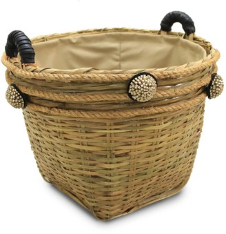 Neyuh Leather The Fusion Straw Basket