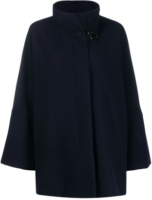 Fay draped wool blend coat