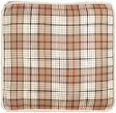 "French Laundry Home Kent Wood Plaid Box Pillow, 20""Sq."