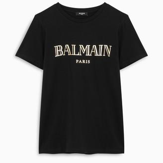 Balmain Black and gold S/S t-shirt