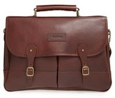 Barbour Men's Leather Briefcase - Brown