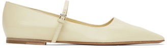 Jil Sander Yellow Mary Jane Ballerina Flats