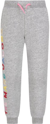 Little Marc Jacobs Grey Sweatpants With Colorful Logo For Girl