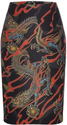 Marianna Déri Emma Skirt Dragons Black