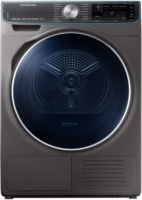 Samsung DV90N8288AX/EU Freestanding Heat Pump Tumble Dryer, 9kg Load, A+++ Energy Rating, Graphite