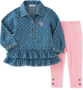 Calvin Klein 2-Pc. Denim Tunic & Leggings Set, Baby Girls (0-24 months)
