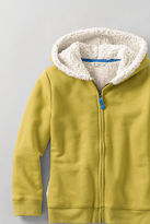 Lands' End Girls' Sherpa Lined Zip-front Hoodie