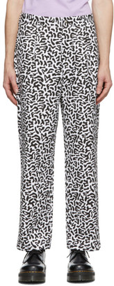 Noah NYC Black and White Camo Trousers