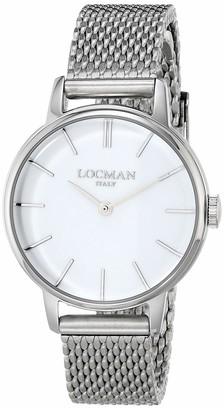 Locman Analog Quartz Watch with Stainless Steel Strap Clear 3 (Model: 4580579743011)