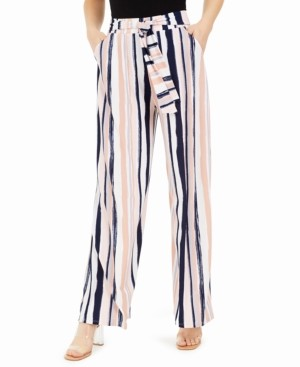 Bar III Striped Tie-Waist Pants, Created for Macy's
